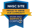 NHSC logo - National Health Service Corps - Proud To Serve Our Community