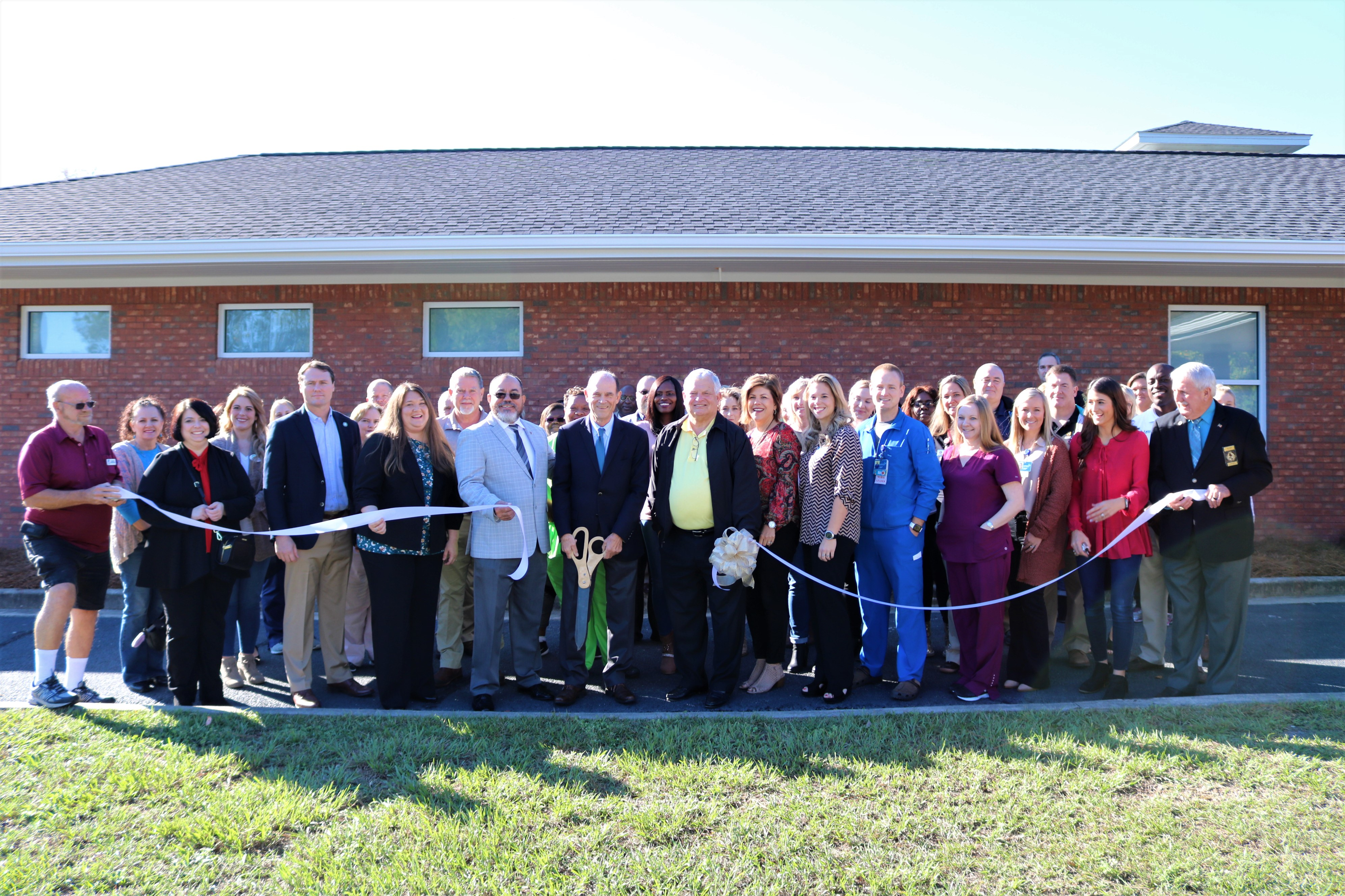 Temporary Observation Ribbon Cutting