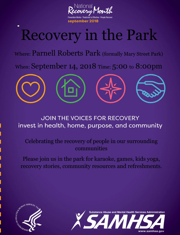 Recovery in the Park Flyer